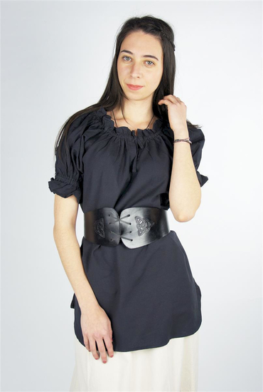 Medieval short sleeve blouse Verena Black