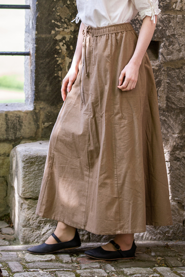 Medieval skirt Dana Light brown