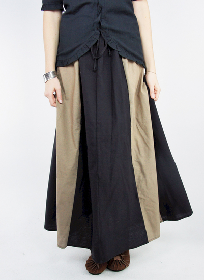 Medieval skirt Dana black/light brown