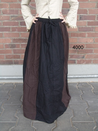 Medieval skirt Dana Dark brown/black