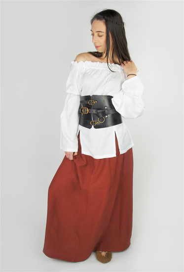 Medieval skirt in heavy cotton Smilla Red