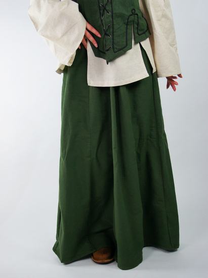 Medieval skirt in heavy cotton Smilla Green