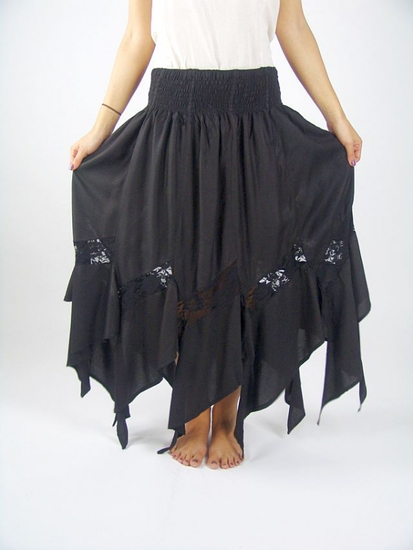 Witch skirt Selena Black