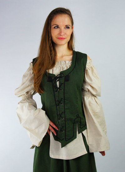Bodice vest with embroidery Selma Green