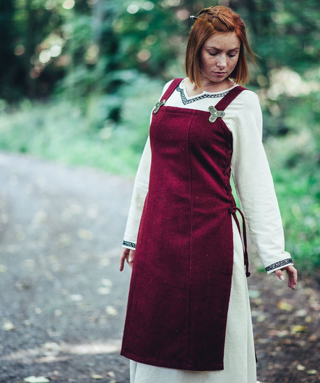 Viking wool overdress Aila Red
