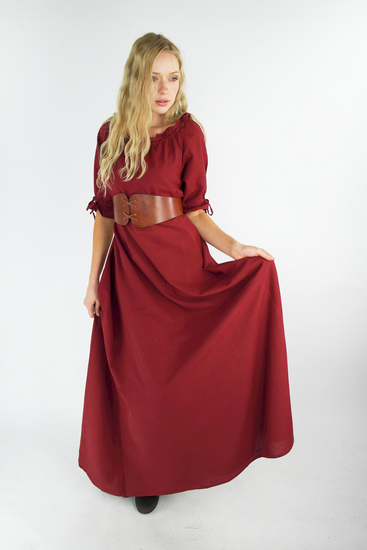 Floor-length short sleeve dress Melisande Red