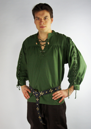 Medieval laced shirt with eyelets Adrian Green
