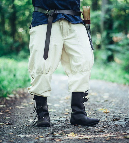 Viking trousers with leg lacing Magnus Natural