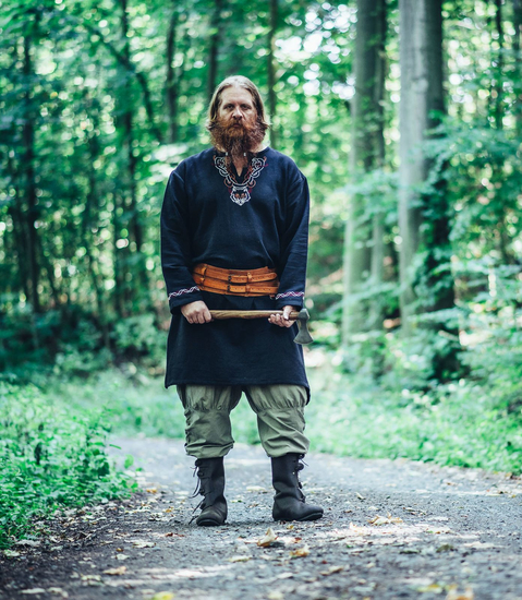 Viking trousers with leg lacing Magnus Hemp