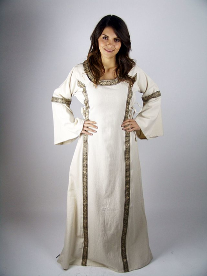 Medieval cotton dress Angie Natural