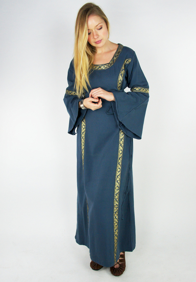 Medieval cotton dress Angie Blue