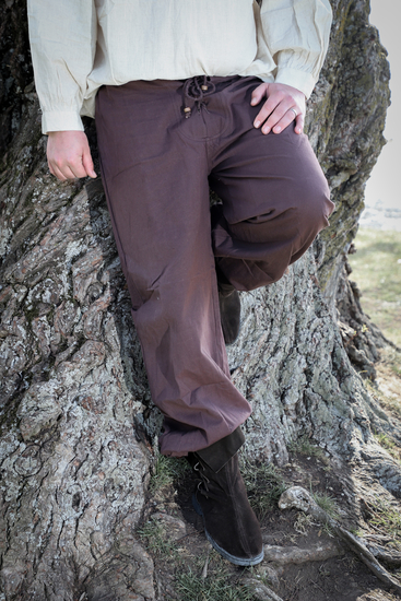Medieval trousers Gerold Dark brown