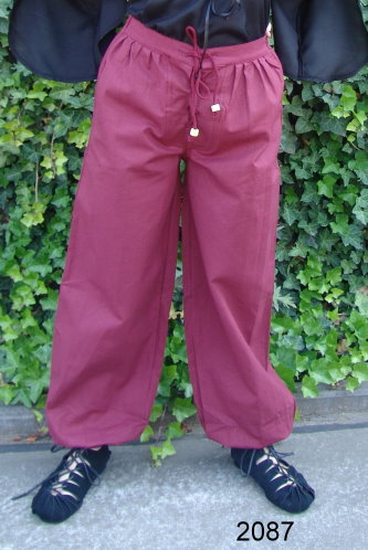 Medieval trousers Gerold Red