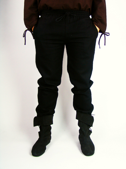 Rustic wool pants Harald Black