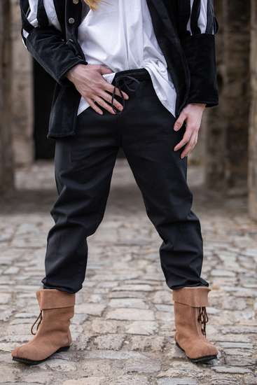 Medieval trousers with elastic band Veit Black