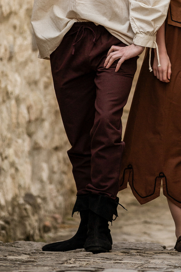 Medieval trousers with elastic band Veit Dark brown
