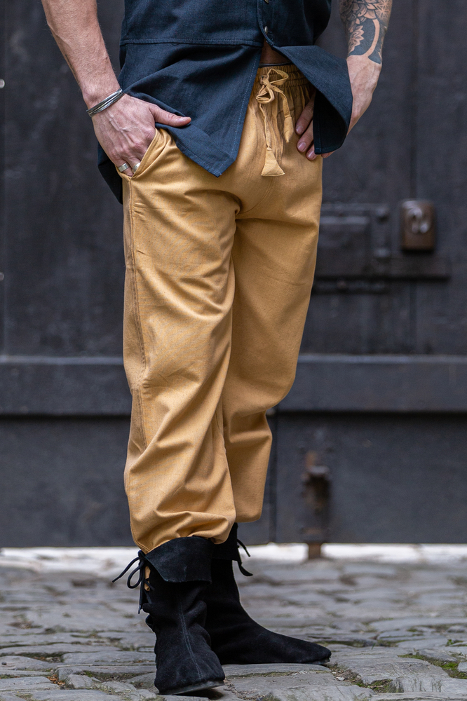 Medieval trousers with elastic band Veit Honey brown