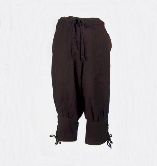 Knee breeches with lower leg lacing Laurence brown