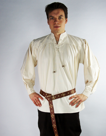 Medieval shirt in coarse cotton Leopold Natural