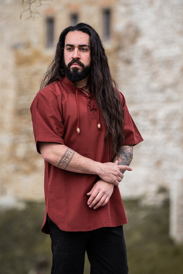 Medieval short sleeve shirt Eric Red