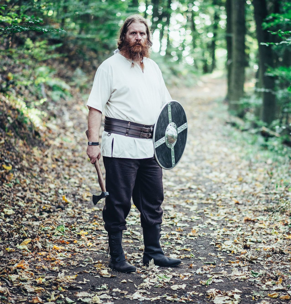 Viking short sleeve tunic Olaf Natural