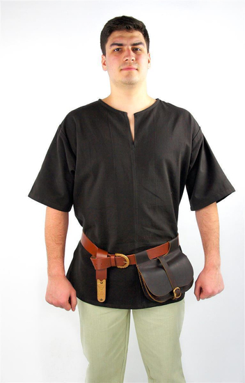 Viking short sleeve tunic Olaf brown