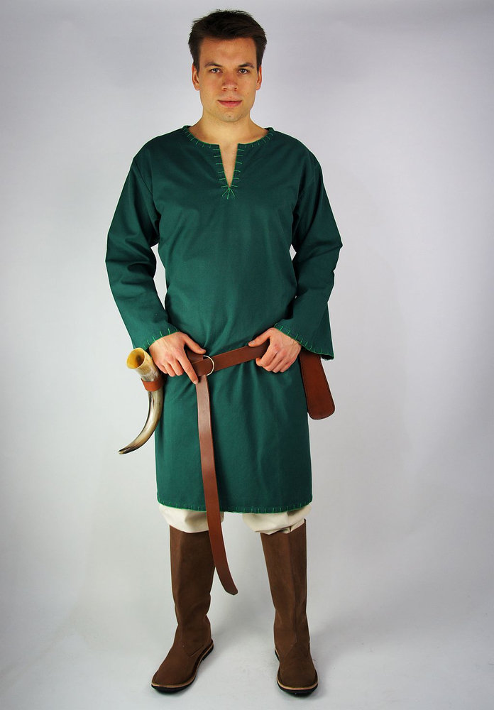 Viking tunic with embroidery Erwin Green