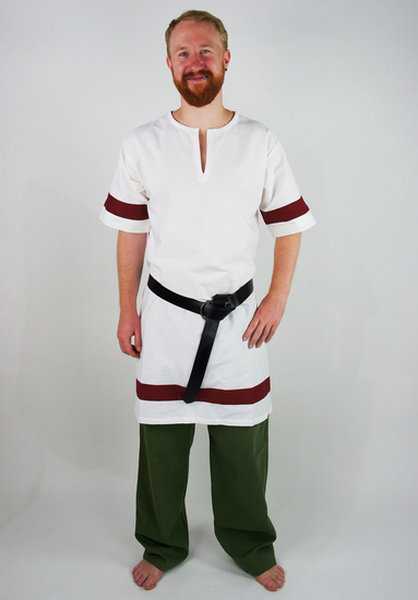 Roman tunic Lucius white/Red
