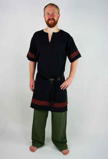 Roman tunic Lucius black/Red