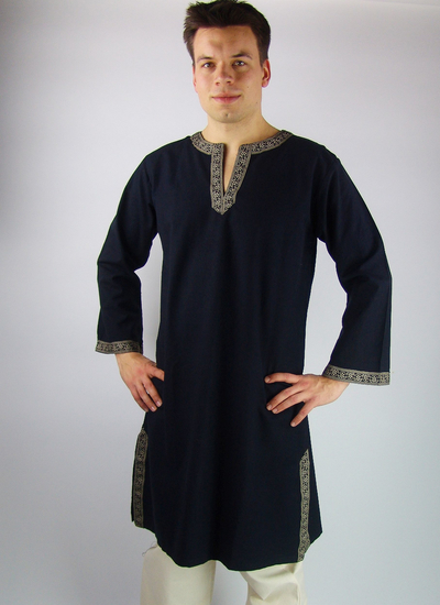 Tunic with border Halvor Black