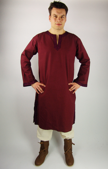 Tunic with border Halvor Red