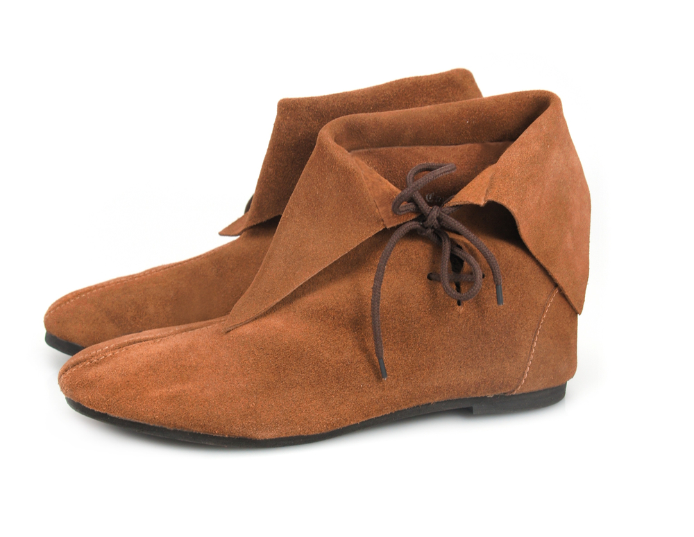 Medieval half boot Wigald Brown