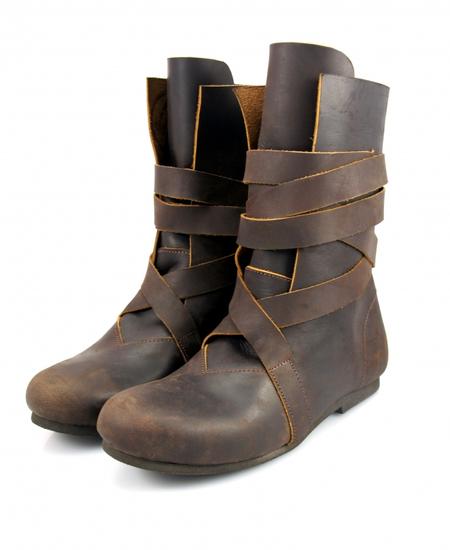 Haithabu Nubuck leather boots Floki Brown