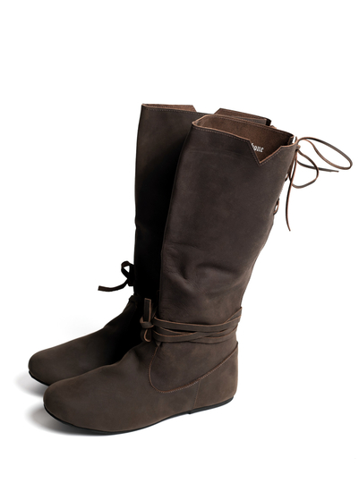 Viking boots Ole from nubuck leather brown
