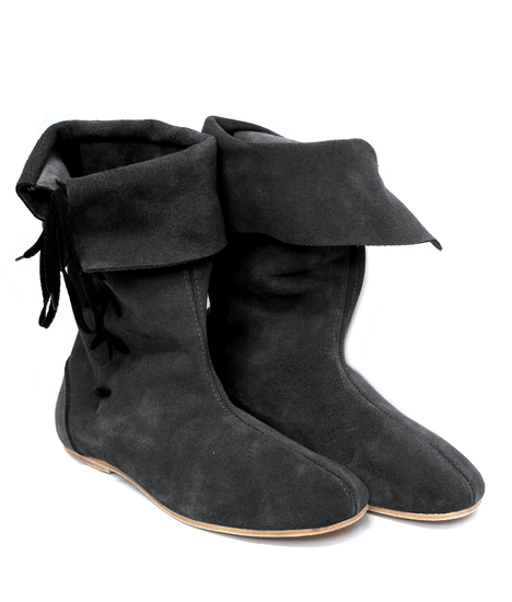 Gauntlet boot with leather sole Lambert Black