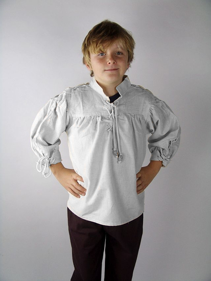 Kids shirt with sleeve lacing John White