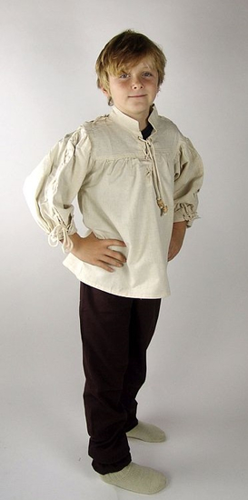 Kids shirt with sleeve lacing John Natural