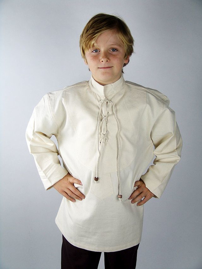 Medieval childrens shirt Linus Natural