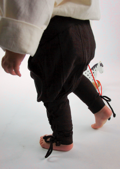 Boys trousers with leg lacing Jecklein Brown