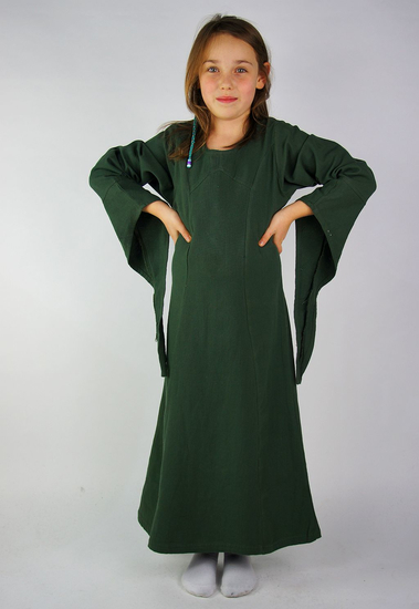 Girls dress with trumpet sleeves Alice Green