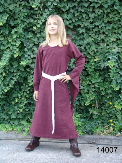 Girls dress with trumpet sleeves Alice Red