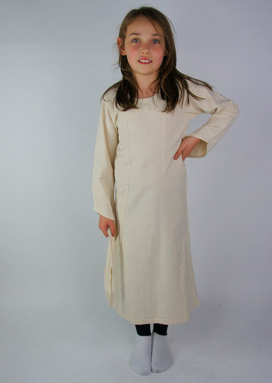 Girls dress with trumpet sleeves Alice Natural