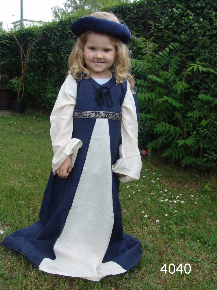 Girls Dress Piccola Donna Blue/Natural