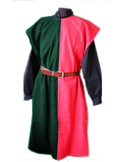 Two-tone tunic Frederick Red/Green